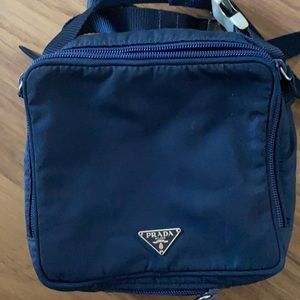 Blue prada fanny pack with authentication card!